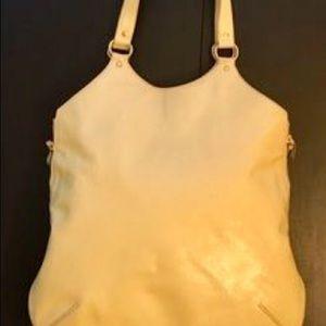 Authentic YSL cream oversize city bag